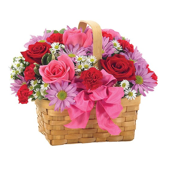 """Basket of Love"" flowers (BF109-11KM)"
